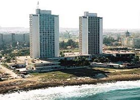 Hotel Neptuno Triton Havana from sea
